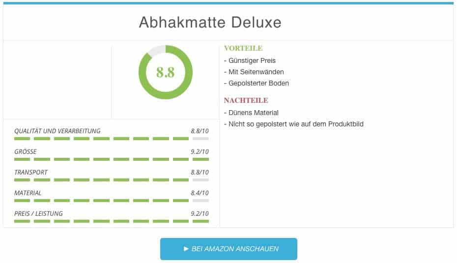 Abhakmatte Deluxe im Test