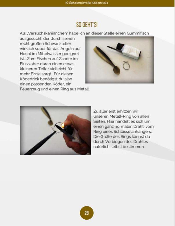 10 geheimnisvolle Ködertricks - Gummischwanz Form