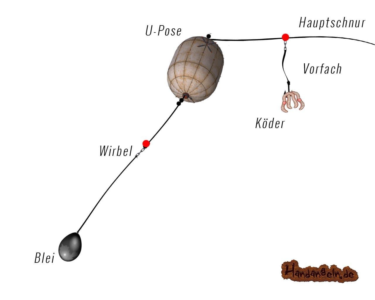 Aalangeln Aalmontage Dyson-Rig