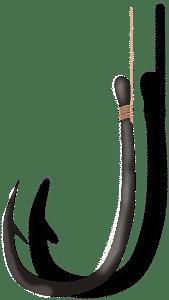 Aalhaken - Einzelhaken