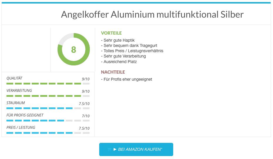 Angelkoffer Aluminium multifunktional Silber