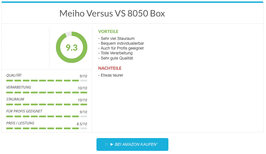 Angelkoffer Test Meiho Versus VS 8050 Box