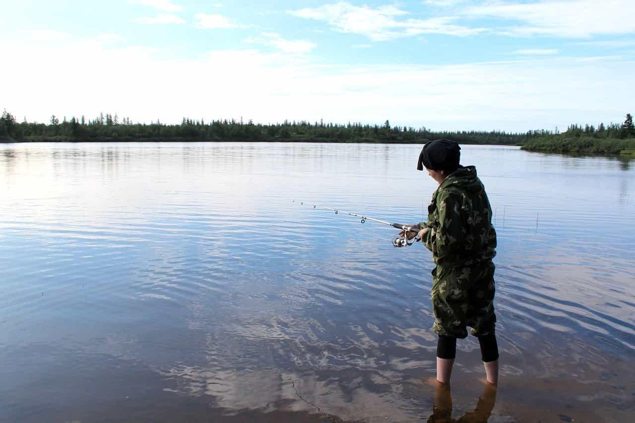 Angeln in Russland Fluss
