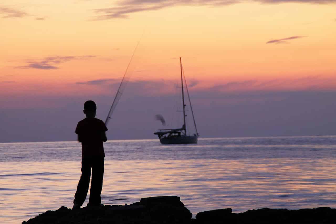 Angelschein Elmshorn Angler am Meer