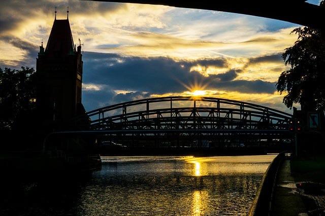 Angelschein Lübeck Sonnenuntergang
