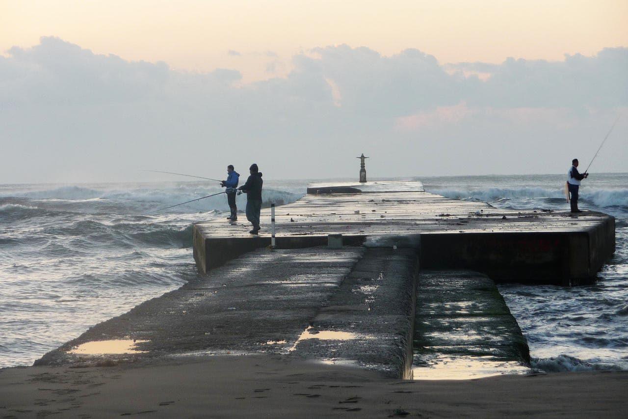 Angelschein Schleswig Steg angeln am Meer