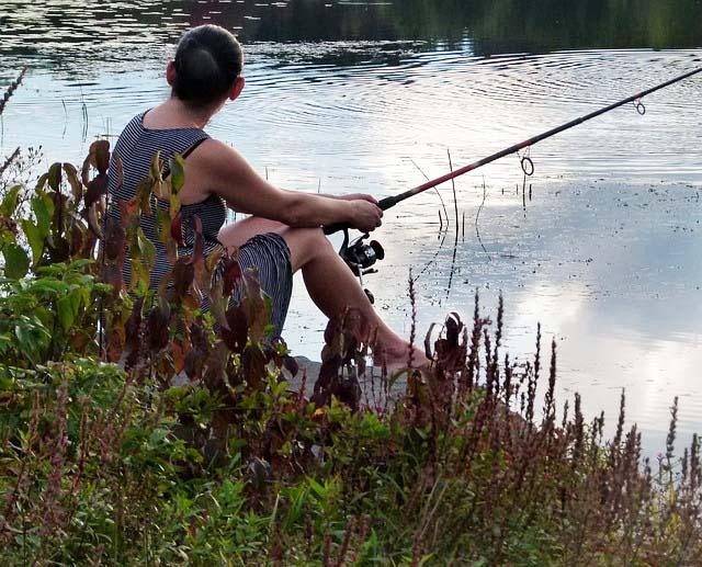 Angelschein Siegen Frau angeln
