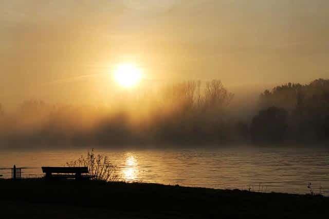 Angelschein Worms Rhein Ufer