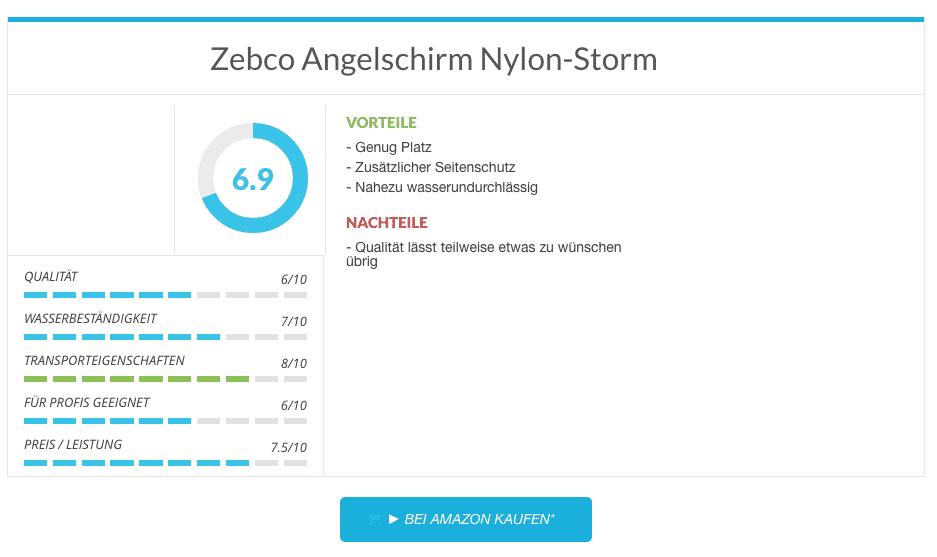 Zebco Angelschirm Nylon-Storm