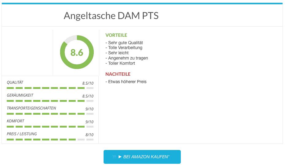Angeltasche DAM PTS