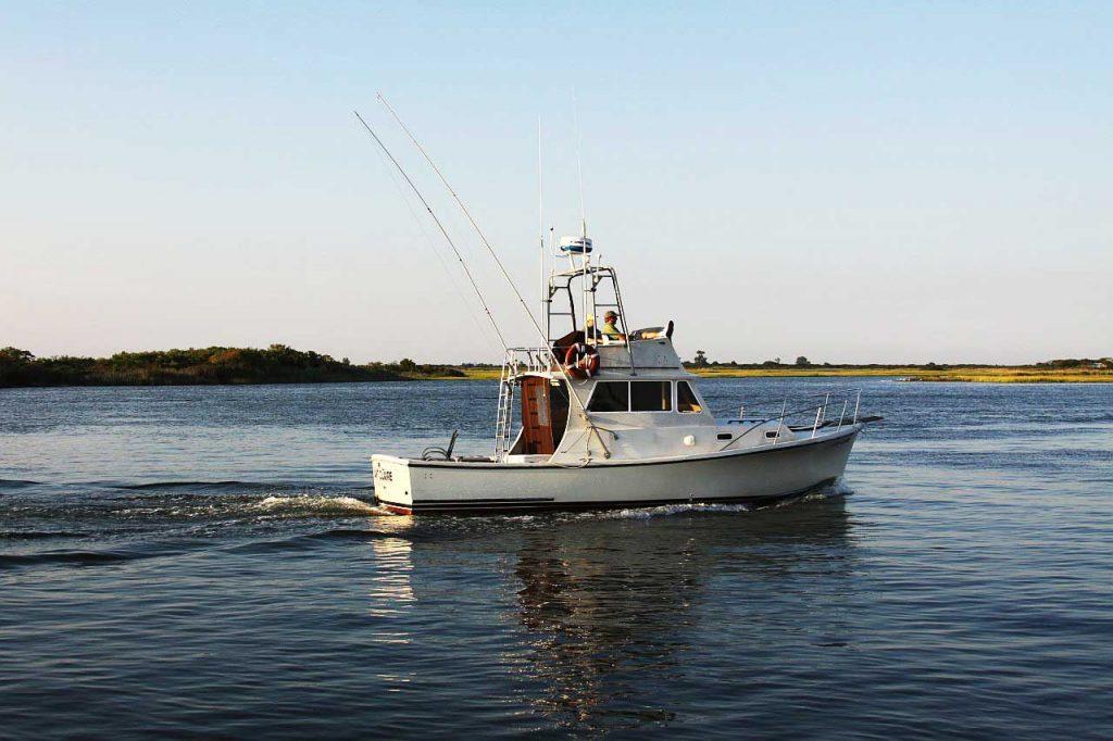 Beispiel von einem Angelboot zum Barsch angeln