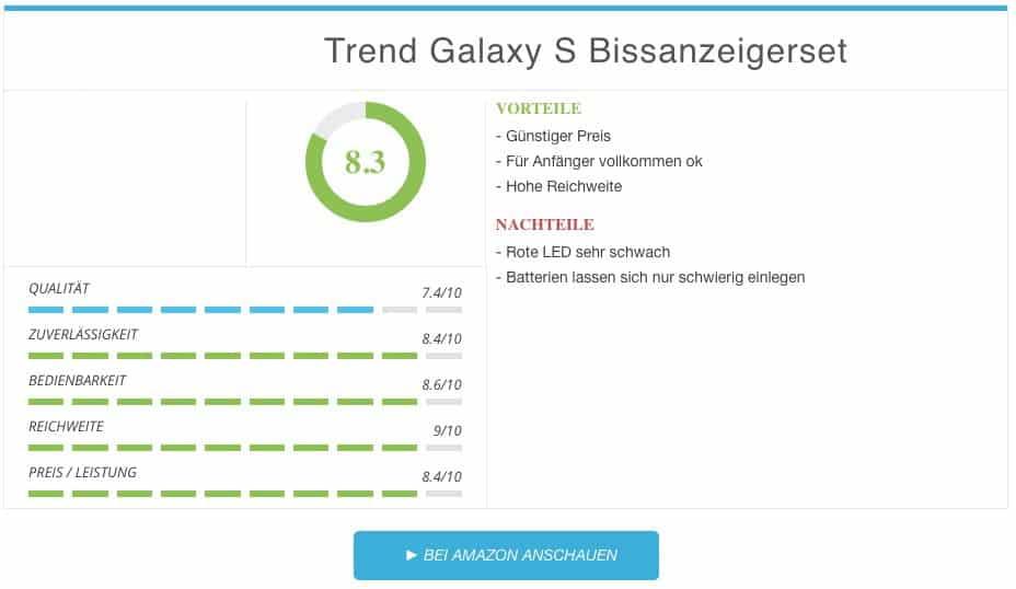 Trend Galaxy S Bissanzeigerset Test