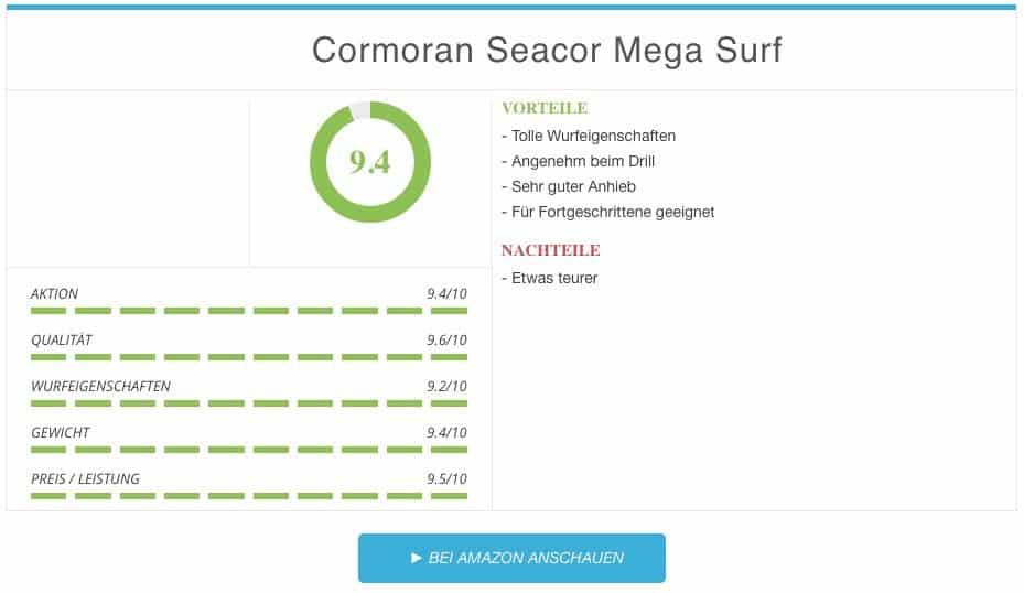Cormoran Seacor Mega Surf Brandungsrute Ergebnis