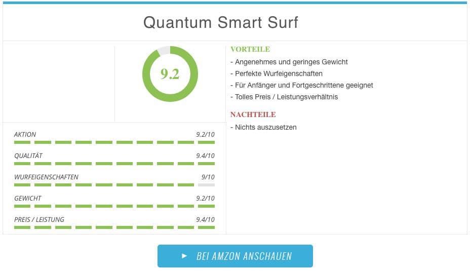 Quantum Smart Surf Brandungsrute Ergebnis