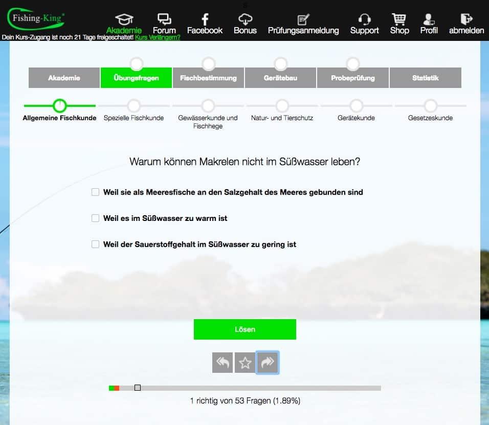 Fischereiprüfung Bremen Prüfungsfragen