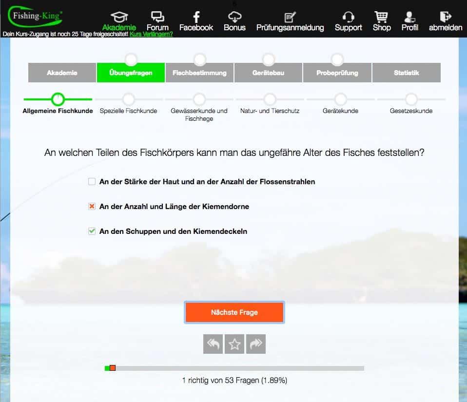 Fischerprüfung Baden Württemberg Ergebnisse