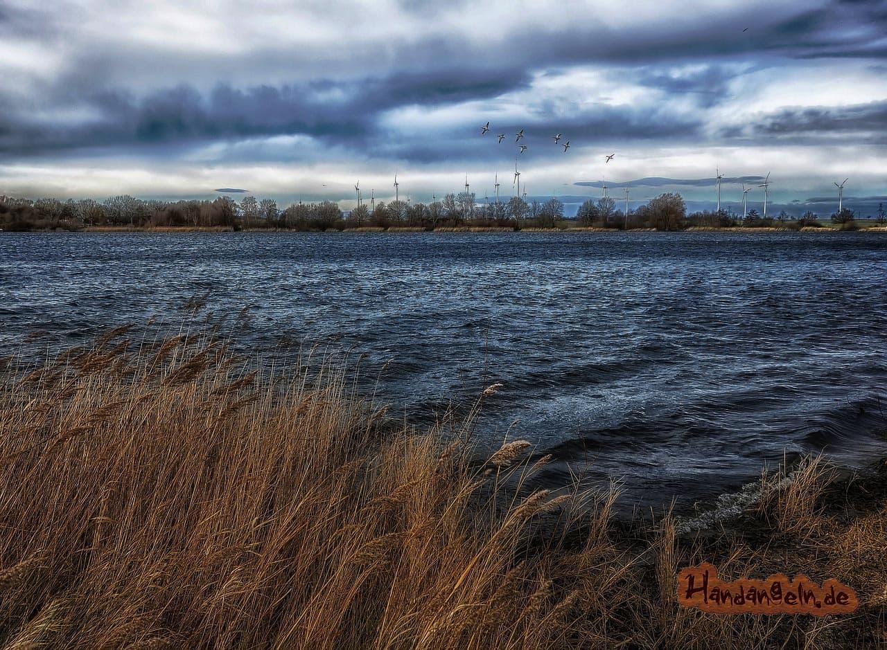 Forellenangeln Wind Ostwind See Ufer