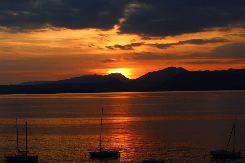 Gardasee angeln - Sonnenuntergang 2