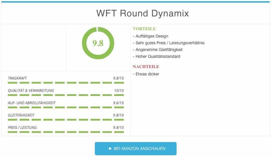 Geflochtene Angelschnur Test WFT Round Dynamix