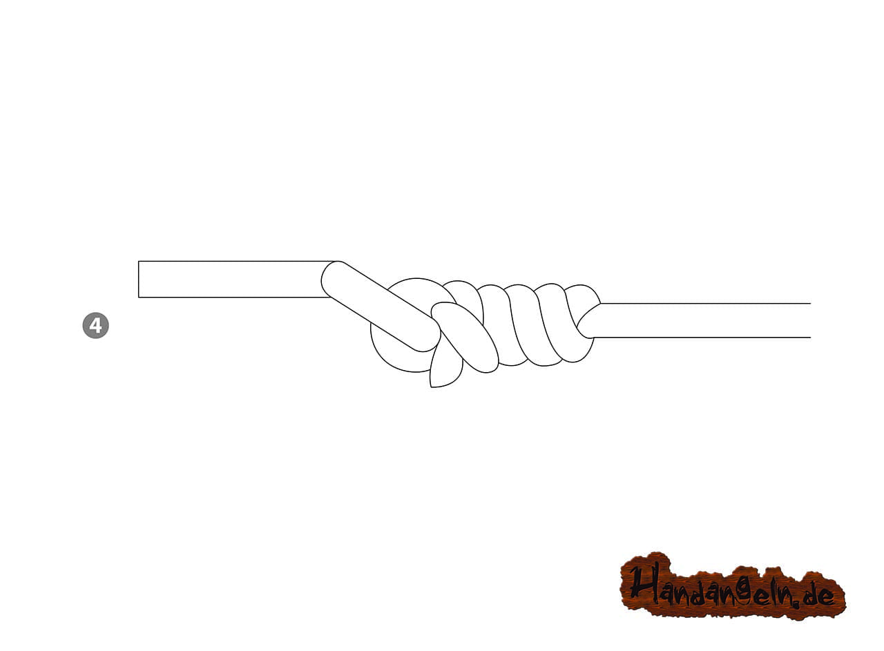 Hechtangeln mit Posenmontage Clinch Knoten Klammerknoten 4 von 4