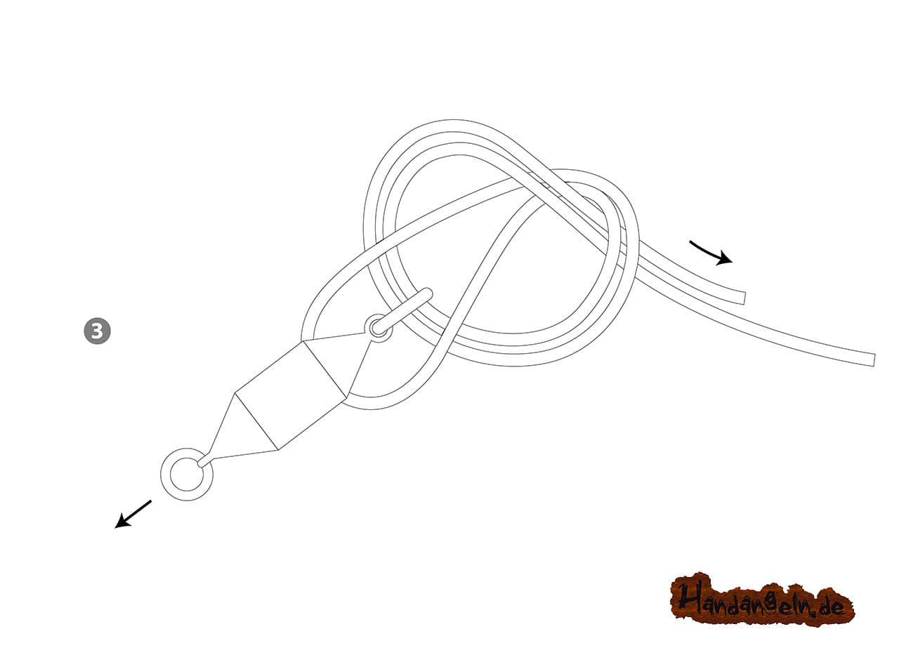Illustration Knoten dritter Schritt Palomar