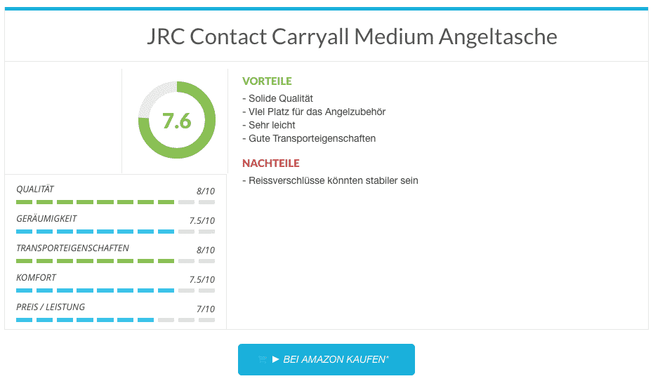 JRC Contact Carryall Medium Angeltasche
