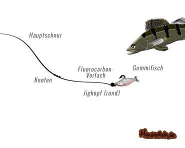 Jigkopf Montage: 2 top Jigmontagen für Zander, Barsch & Dorsch