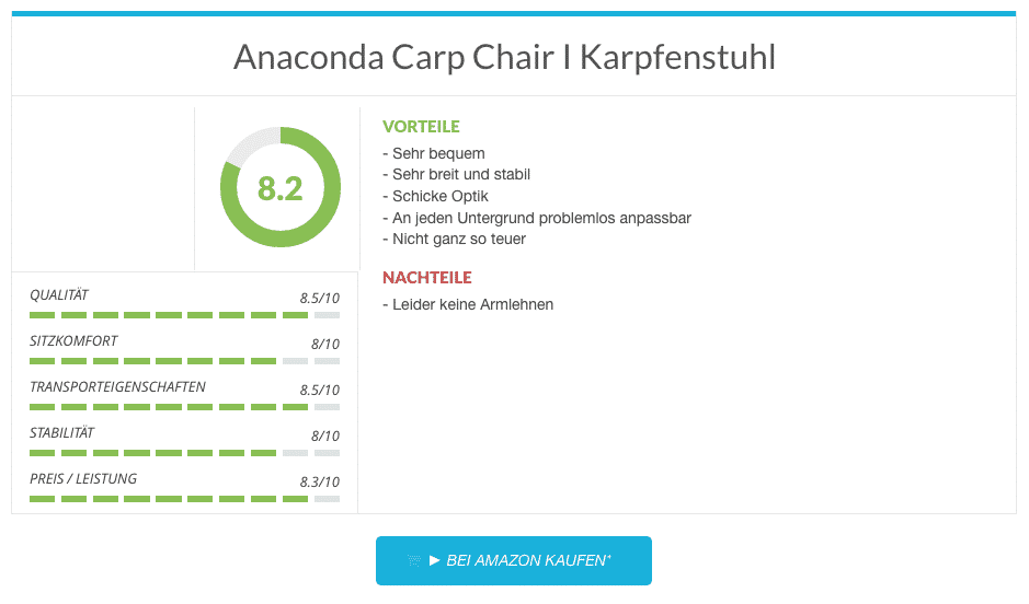 Anaconda Carp Chair I Karpfenstuhl