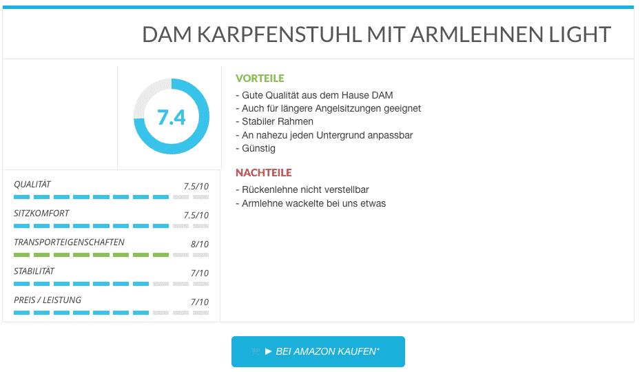 DAM KARPFENSTUHL MIT ARMLEHNEN LIGHT