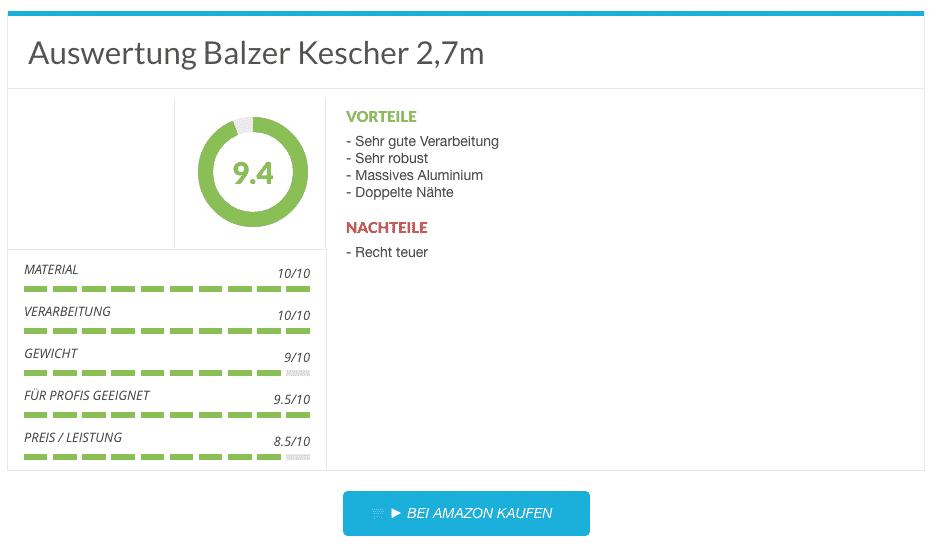 4 Balzer Kescher 2,7m