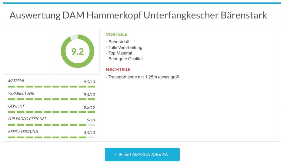 3 DAM Hammerkopf Unterfangkescher Bärenstark