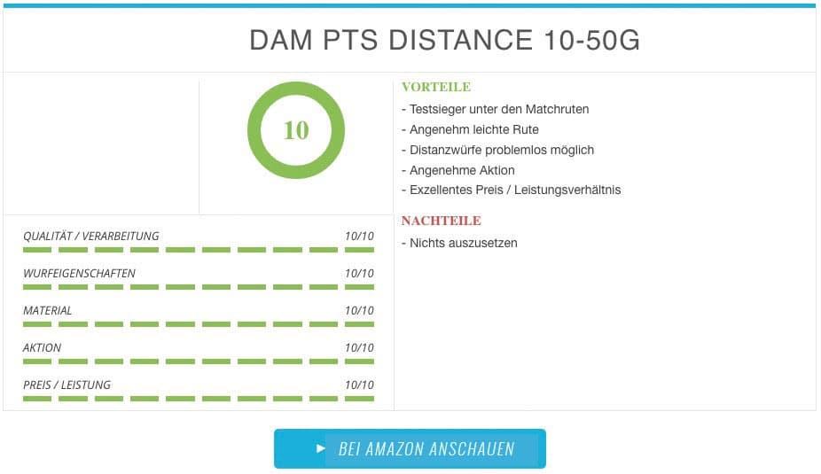 DAM PTS DISTANCE 10-50 G Ergebnis