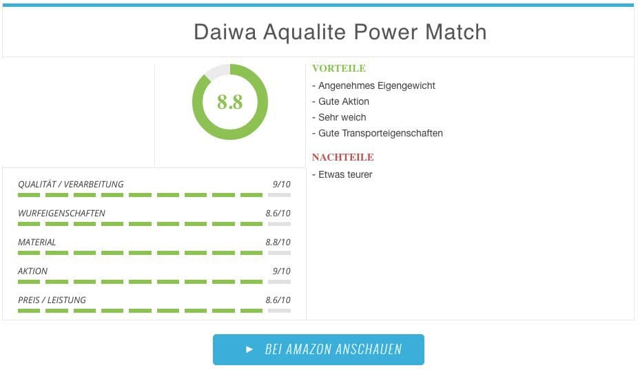 Daiwa Aqualite Power Match Test