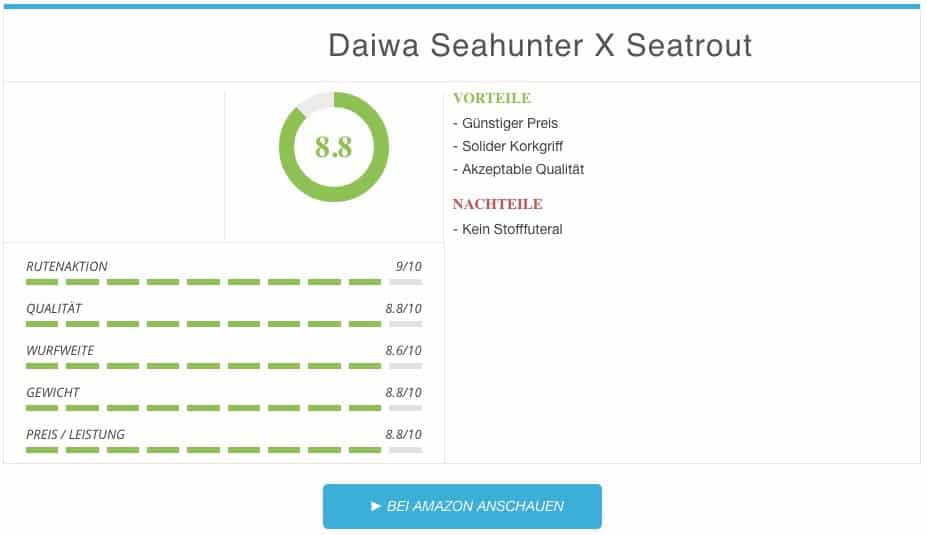 Meerforellenrute Test Daiwa Seahunter X Seatrout