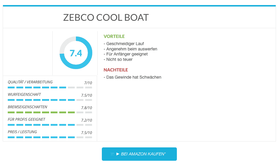 Multirolle ZEBCO COOL BOAT