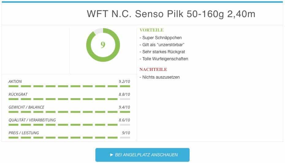 WFT Pilkrute Never Crack Senso Pilk Ergebnis