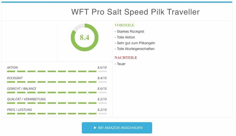 WFT Pro Salt Speed Pilk Traveller Pilkrute