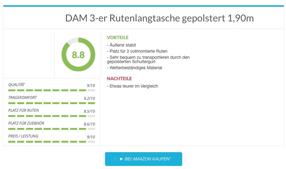 DAM 3-er Rutenlangtasche im Test
