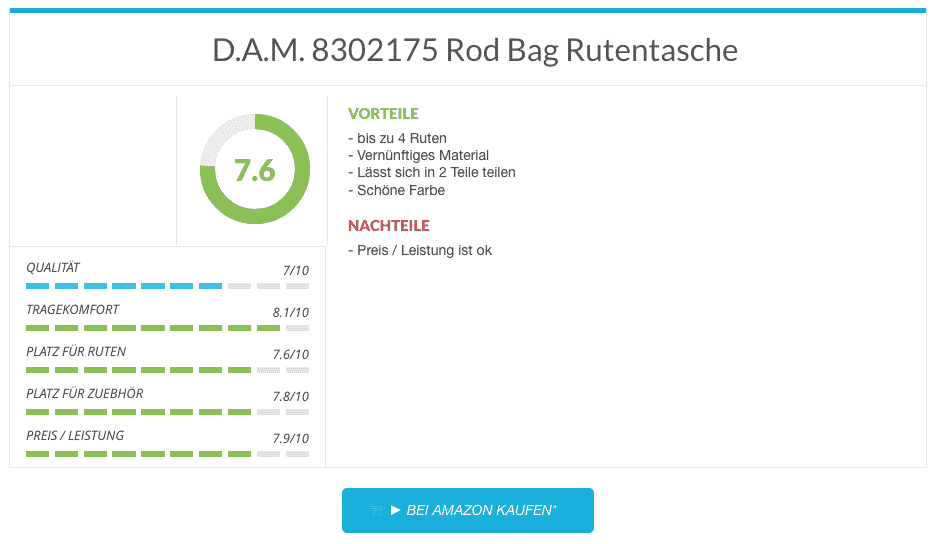 D.A.M. 8302175 Rod Bag Rutentasche im Test