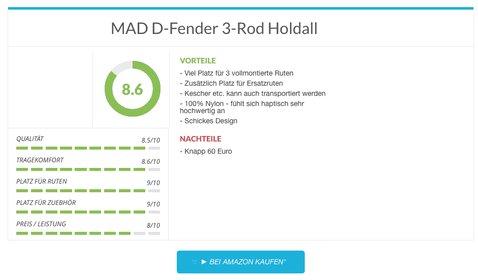 MAD D-Fender 3-Rod Holdall Rutentasche im Test