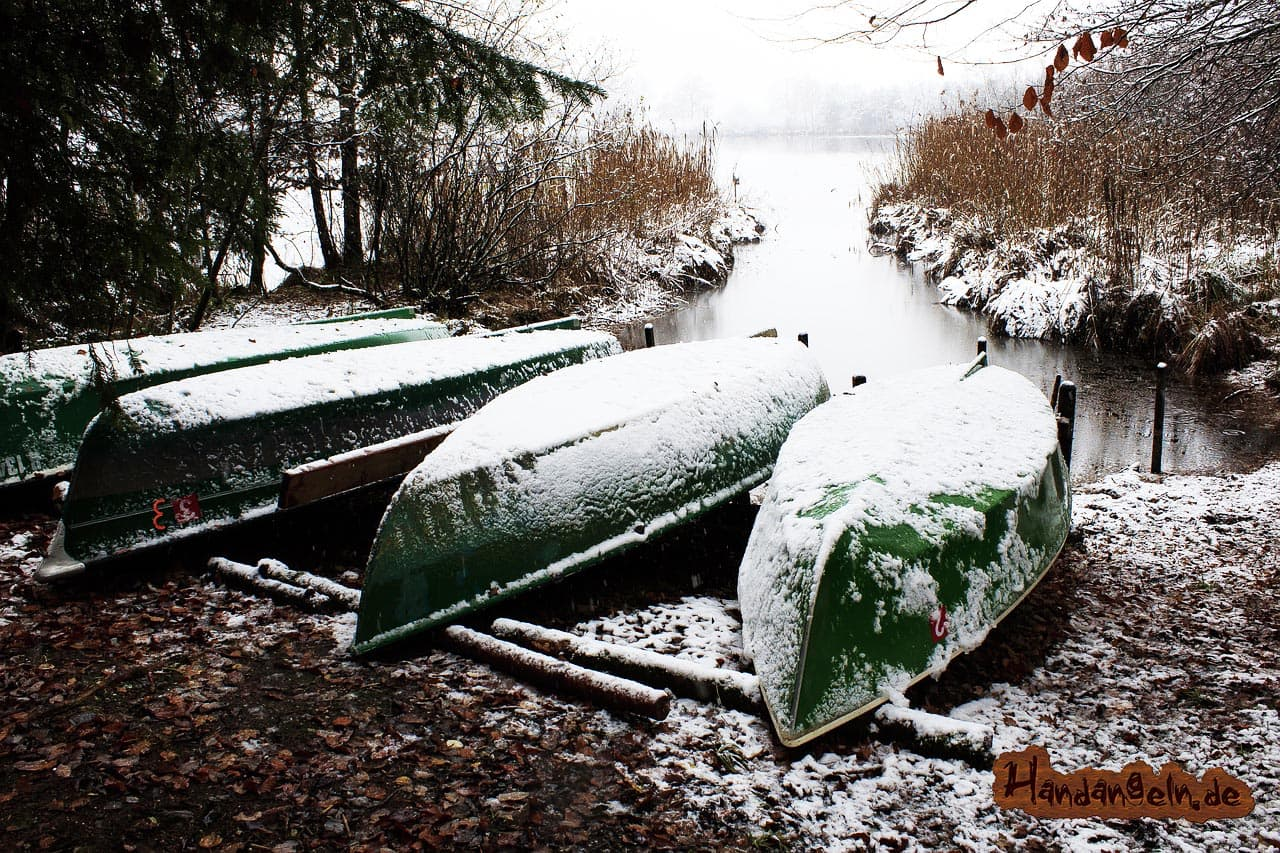 Schleien angeln im Winter Dezember Januar Februar