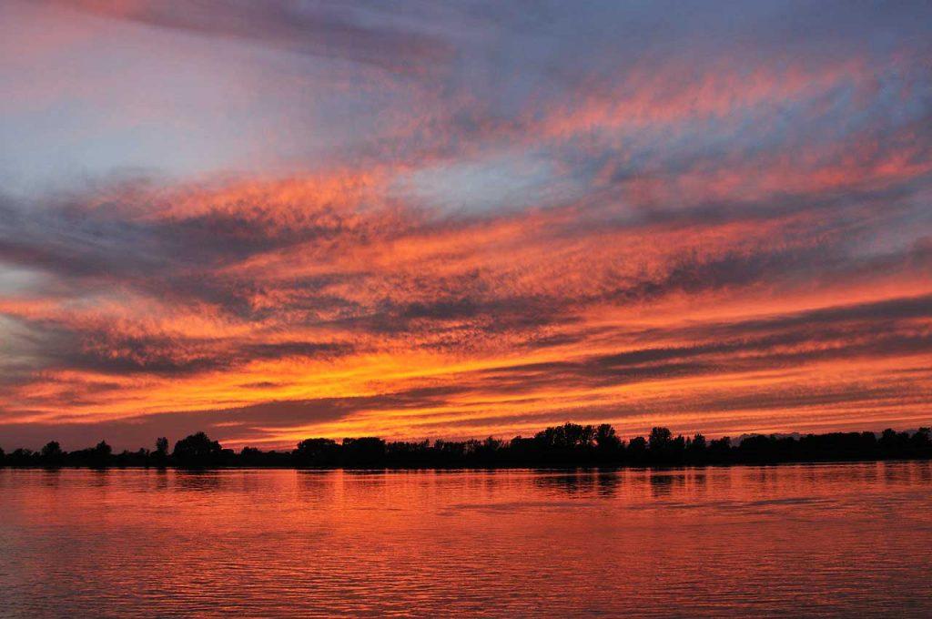 Sonnenuntergang Rapfen angeln