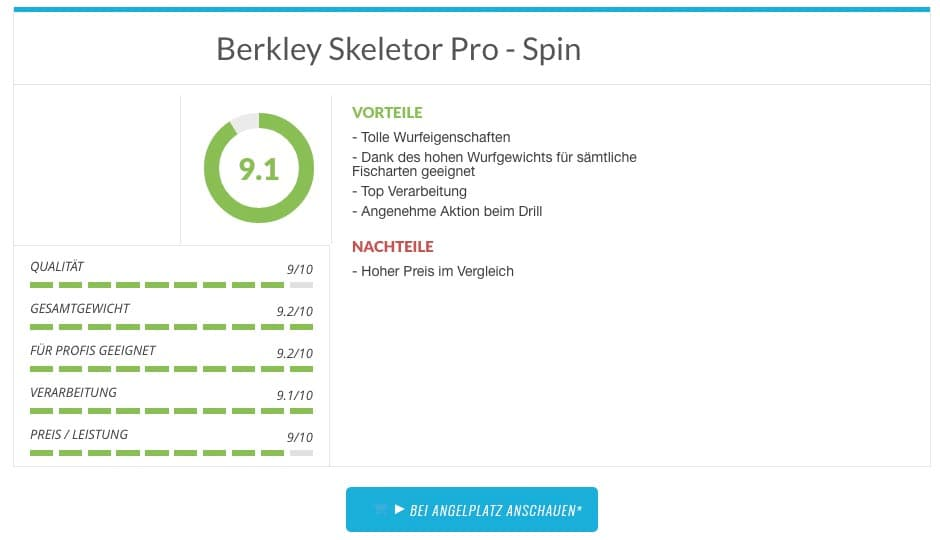 Berkley Skeletor Pro - Spinnrute