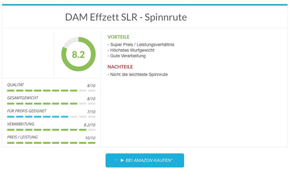 Spinnruten Test - DAM Effzett SLR - Spinnrute