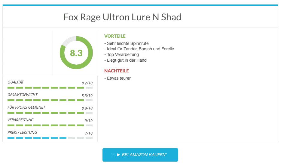 Ergebnis Fox Rage Ultron Lure N Shad