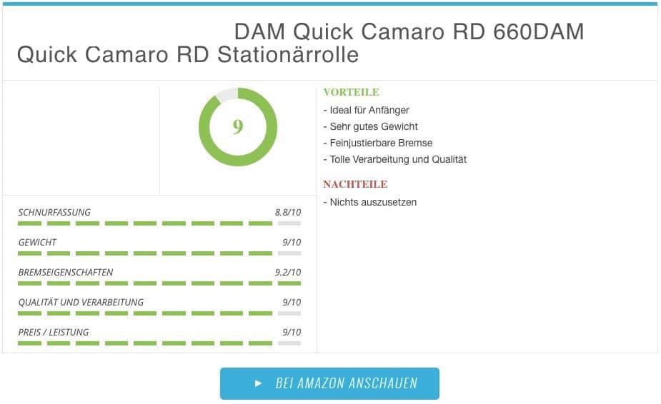 Stationärrollen Test - DAM Quick Camaro RD Stationärrolle