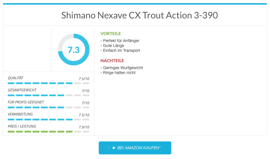 Shimano Nexave CX Trout Action 3-390
