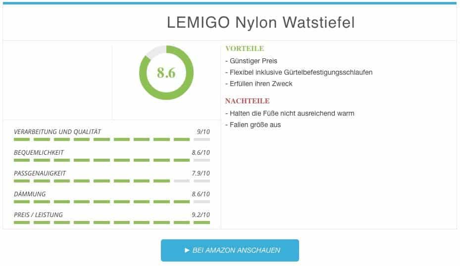 Lemigo Nylon Watstiefel Test