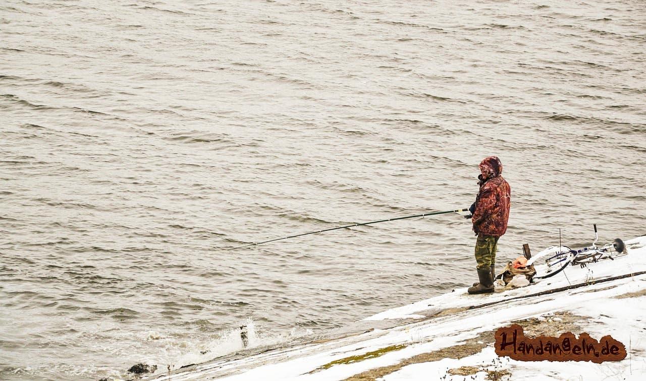 Welsangeln im Winter Winterwels Angler