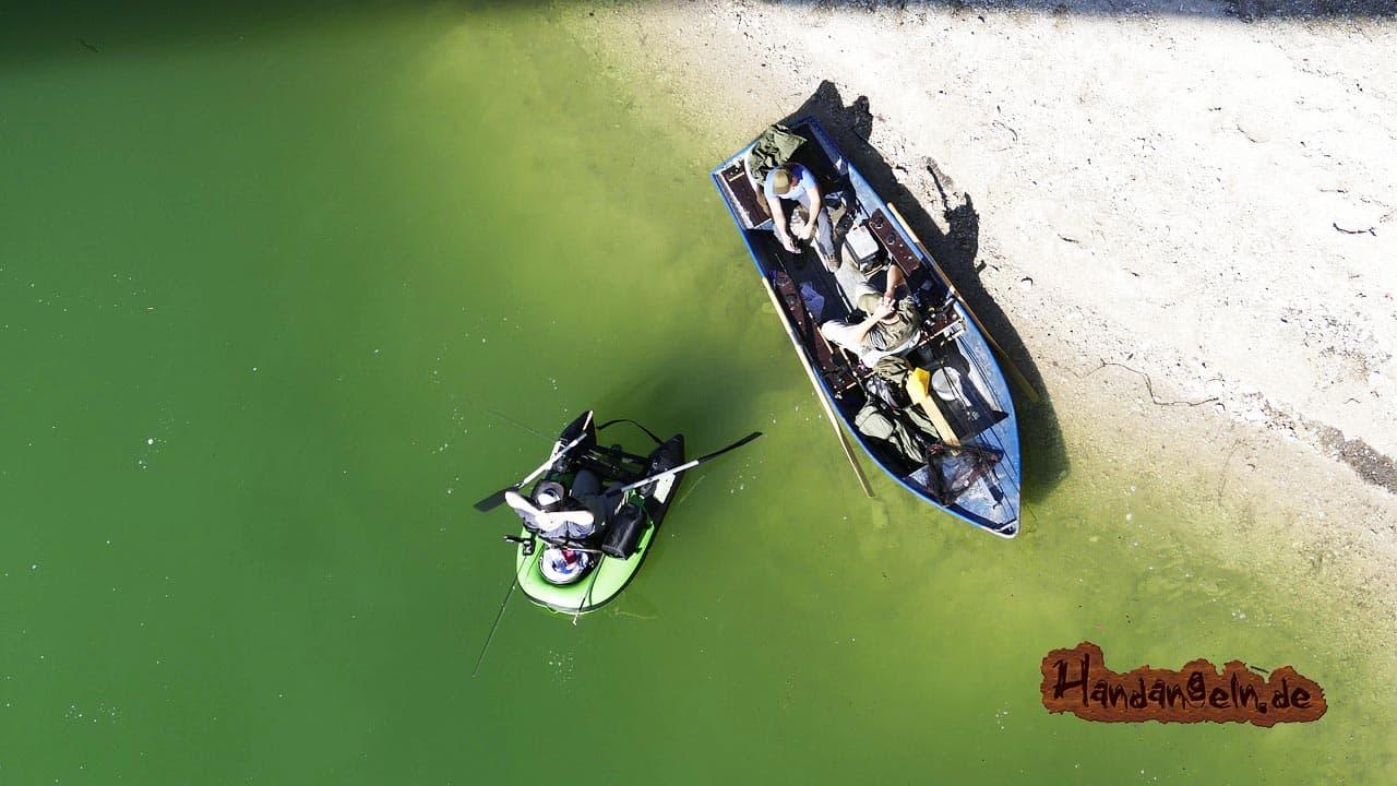 Welsangeln vom Boot Welsboot
